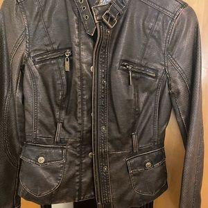 Motor leather jacket